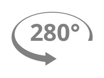 Rotazione 280°