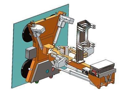Manipolatore idraulico per vetri
