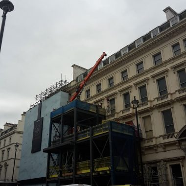 Roof repait on a building in central London