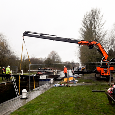 Emergency Recovery and Repair of Damaged and Submerged Lock Gate