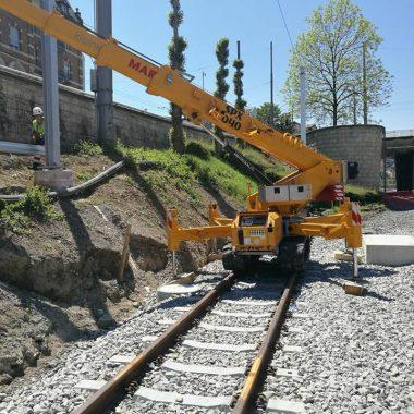Travaux sur voies ferrées