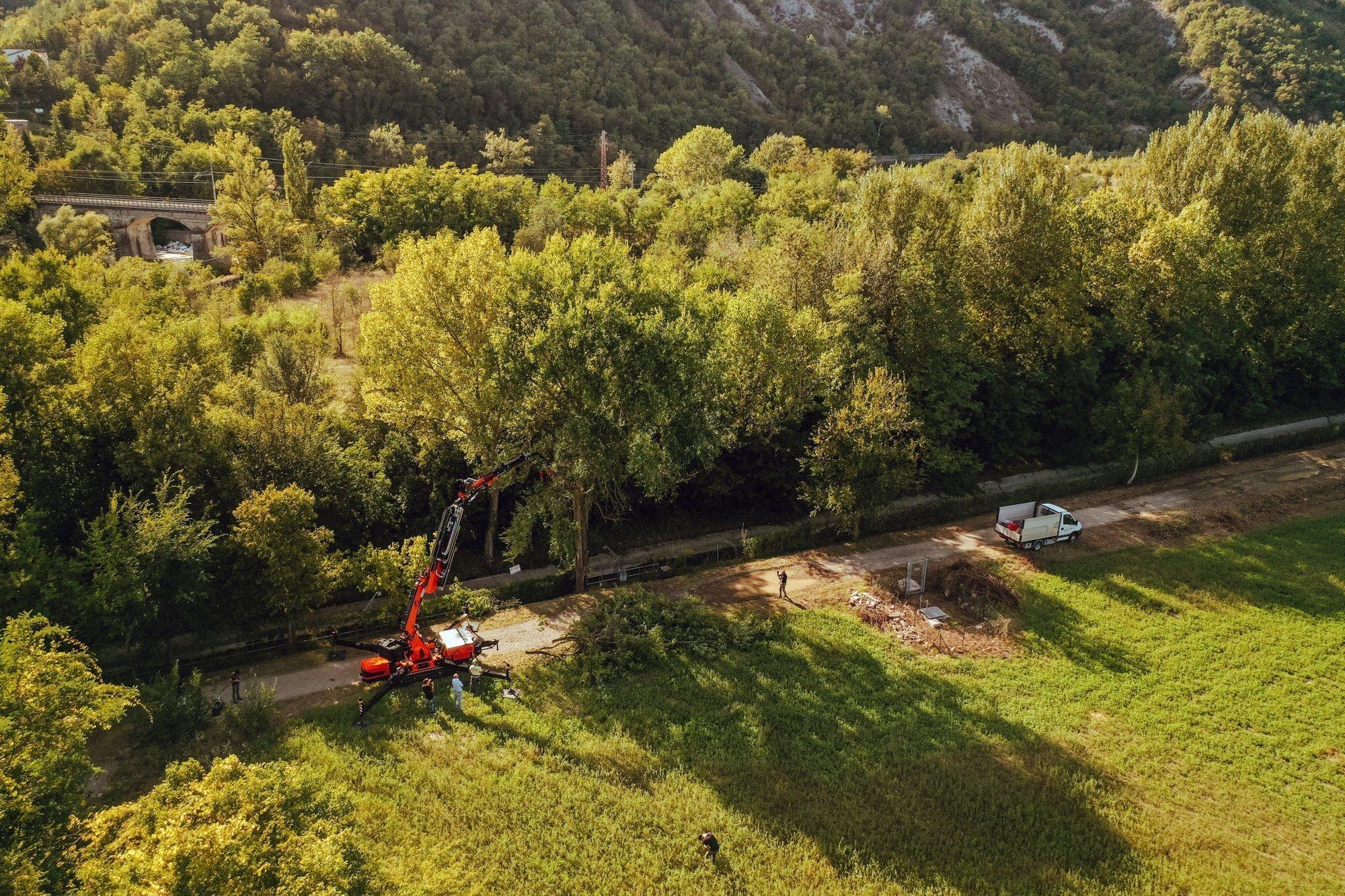 jf545 Kran für Grünflächenpflege