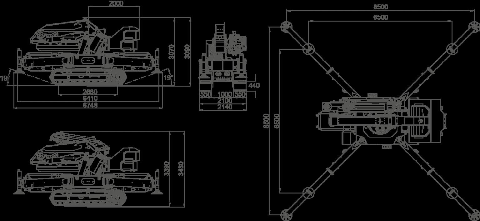 mini crane JF990 jekko